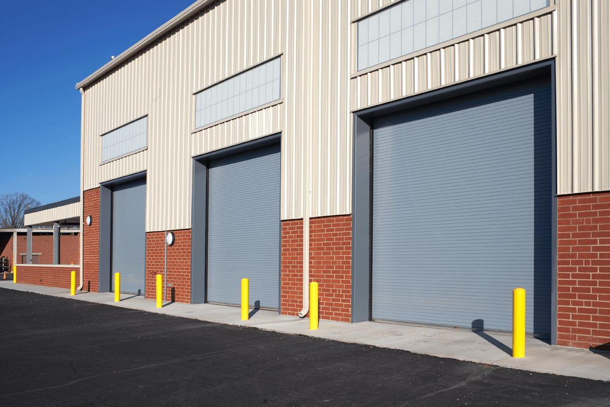 Repaired Commercial Garage Door