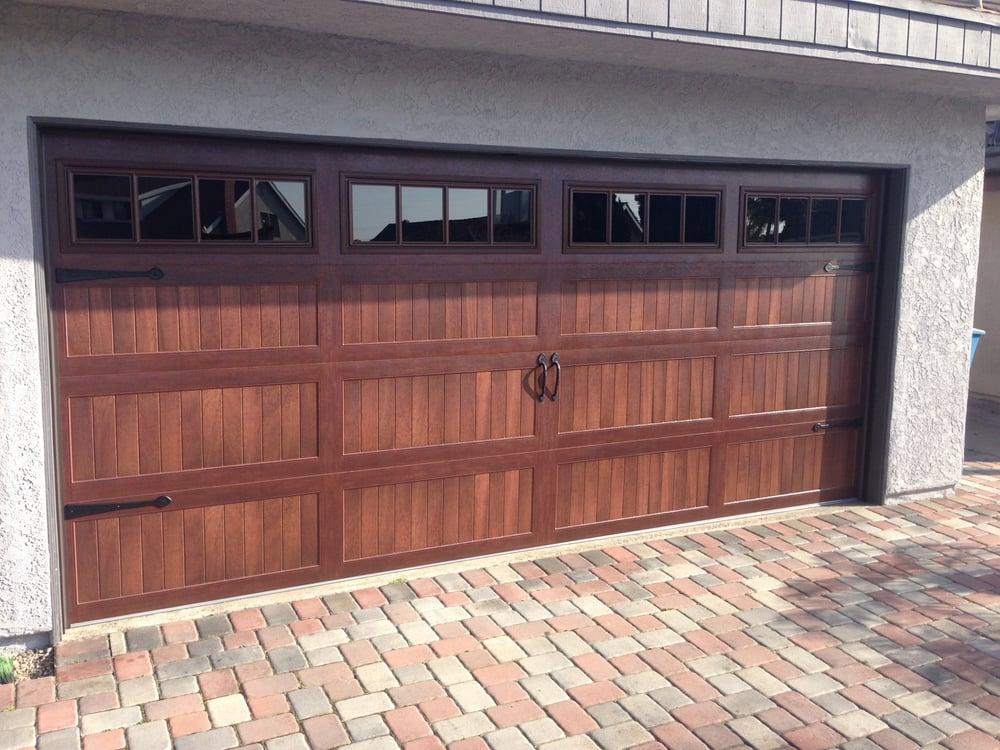 Repaired Wooden Garage Door